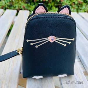 Kate spade cat coin black purse jazz things up